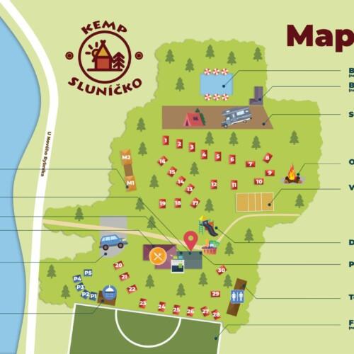 Kemp Sluníčko Informační Mapa